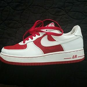 Nike Air Force 1 Red/White Sz 9