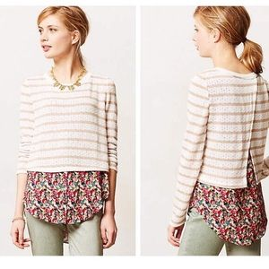 Anthropologie Sweaters - Anthropologie POSTMARK layered ginny pullover