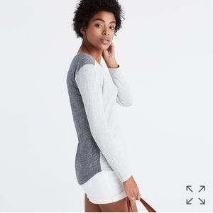 Madewell whisper cotton long-sleeve tee-colorblock