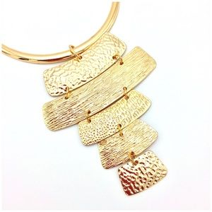 Fabulous Gold Statement Bib Necklace