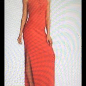 Athleta Orange maxi dress