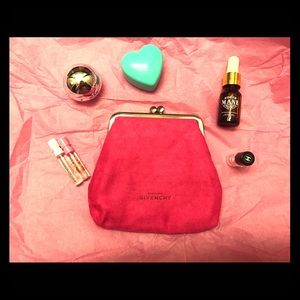 Authentic Givenchy hot pink clutch / cosmetic bag