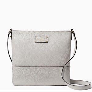 kate spade Handbags - NWT Pale Gray Kate Spade Leather Cross Body Bag