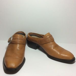 Ariat Western Clog Slides Tan GUC Size 8