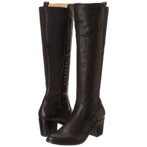 Frye Shoes - Frye Janis Gore Tall Riding Boots Black Leather
