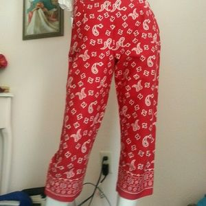 Pants - Paisley Red Capri PinUp Girl Country Pants size 6
