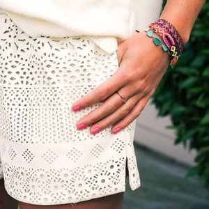Anthropologie Pants - Tribal•Cream Eyelet Lace Shorts