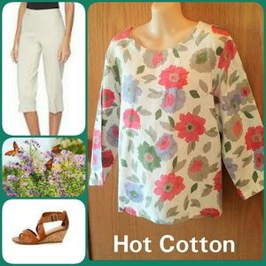 Hot Cotton by Marc Ware Tops - CLEARANCE Lagenlook Top SZ LARGE