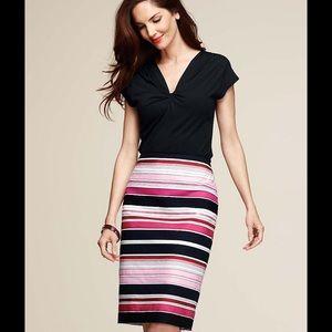 Talbots Ribbon Stripe Skirt