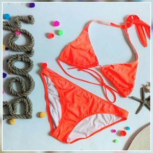 Victoria's Secret Other - Neon Orange Triangle Bikini