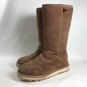 BearPaw Shoes - Bearpaw suede and sheepskin thick sole boots