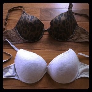 Other - 2 aerie bras! Grey is 36B, cheetah is 36C!