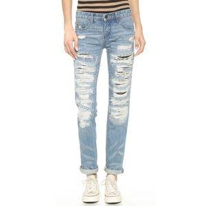 Blank NYC Denim - Blank NYC distressed boyfriend jeans