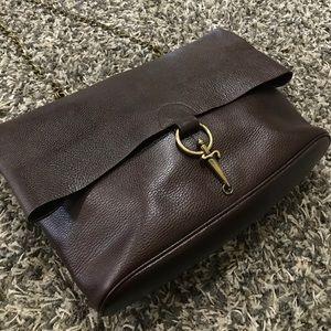 Cesare Paciotti Handbags - CESARE PACIOTTI BROWN LEATHER BAG PURSE CHAINSTRAP