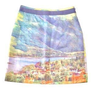 Anthropologie Meadow Rue Landscape Skirt