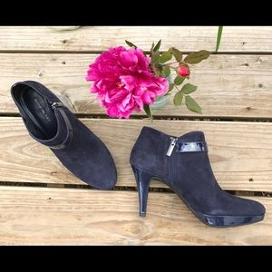 Bandolino Shoes - Bandolino Blue Suede Booties NEW CONDITION! Size 9