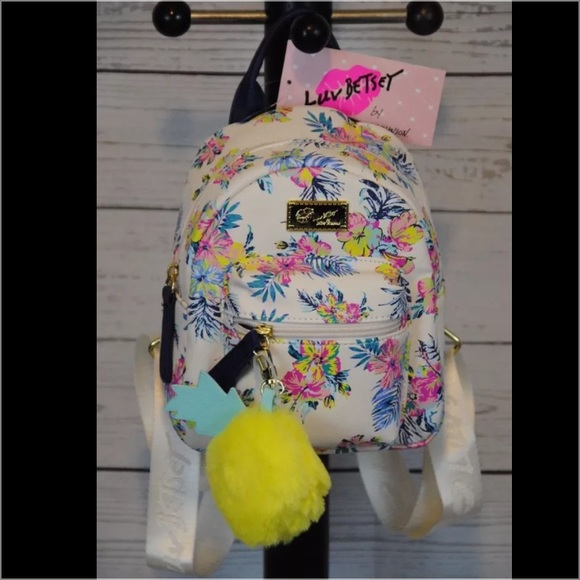 Betsey Johnson Bags Mini Floral Pineapple Backpack