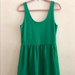 J.Crew green sleeveless dress