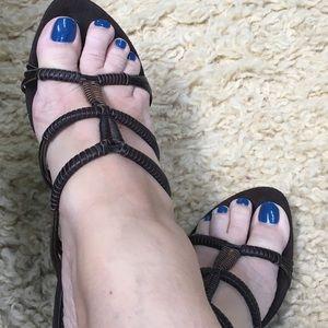 Ann Marino Shoes - Ann Marino Leather Sandals