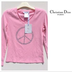 New CHRISTIAN DIOR Peace sign NWT top shirt 46 10