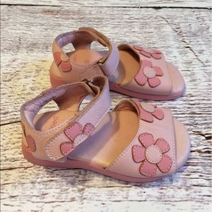 pediped Other - pediped Pink Flower Sandals