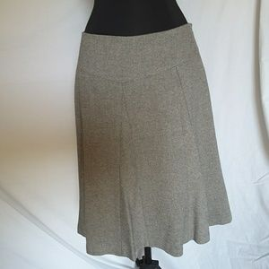 Talbots Circle Skirt Lined Italian Gray Size 14P