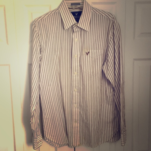 90 off american eagle outfitters other ae men 39 s brown for White shirt brown buttons