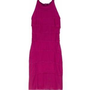 {VINCE} NWT hot pink ruffle dress size 10