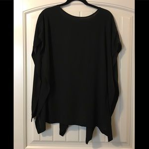 TOPSHOP black waterfall top