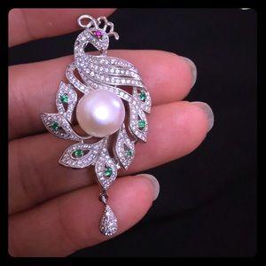 Freshwater pearl , Silver pendant!