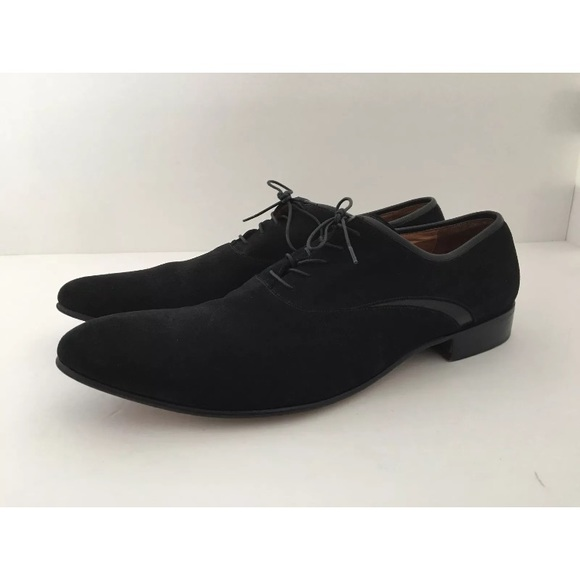 Emanuel Ungaro Shoes Mens Black Suede Dress Shoe Poshmark