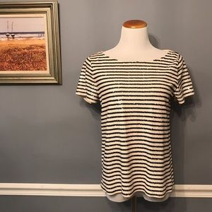 [J. Crew] Sequin Stripe Tee