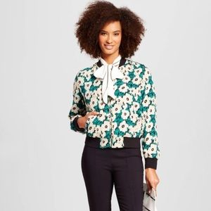 Who What Wear Jackets & Blazers - Who What Wear Floral Bomber Jacket