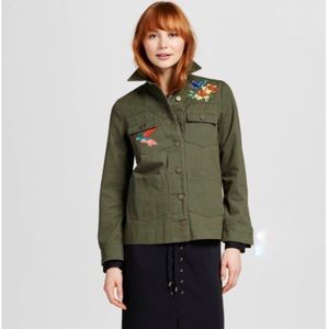 Who What Wear Jackets & Blazers - Who What Wear Embroidered Field Utility Jacket