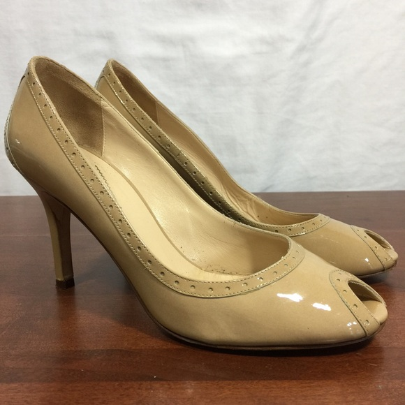 c6e92adf4c kate spade Shoes - Kate Spade peep toe pumps nude tan patent leather