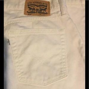 Levi's Other - 34W 29L Mens White Straight Leg Stretch Jeans