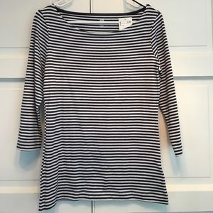 H&M Blue and White Striped Top. M