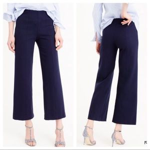 JCREW black wide leg ponte pant