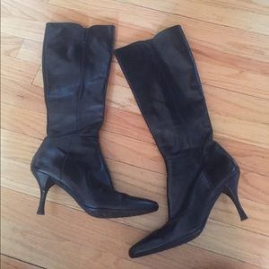 Stuart Weitzman black leather boots