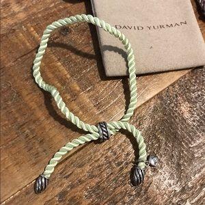 David Yurman Jewelry - Green David Yurman Silk Cord Bracelet