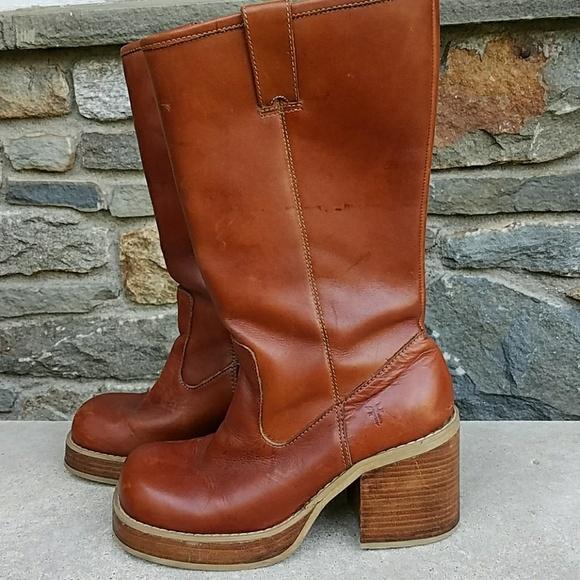 4874afad15f Frye Shoes - Frye vintage campus platform boots