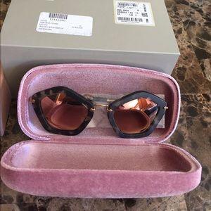 Miu Miu Accessories - MIU MIU Pentagon Frame Sunglasses