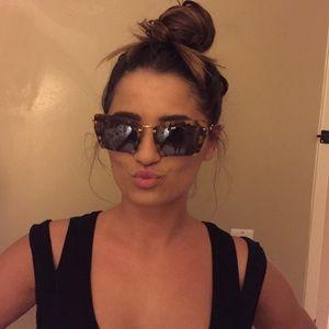 Miu Miu Accessories - MIU MIU Cat Eye Razor Cut Frame Sunglasses