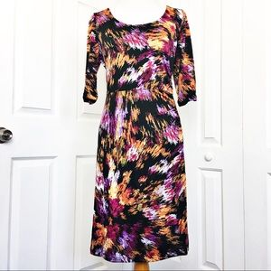 Shelby &Palmer Ruched Midi Dress
