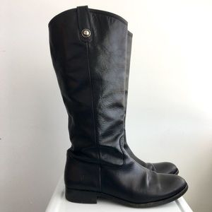 Frye Shoes - Frye Melissa Button Riding Boots in Black