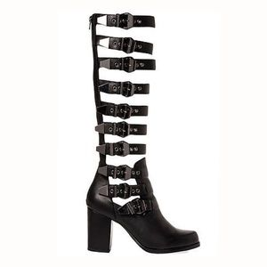 YES Shoes - YES Brand Solestruck Caged Buckle Heels