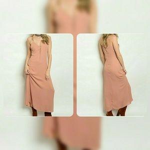 Dusty Pink Spaghetti Strap Maxi Dress