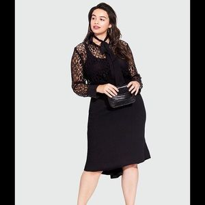 Who What Wear Dresses & Skirts - NWT Who What Wear peplum black pencil skirt
