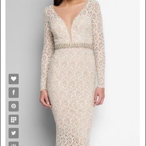 Terani Couture Dresses & Skirts - Gorgeous Champagne Bridal shower Lace dress