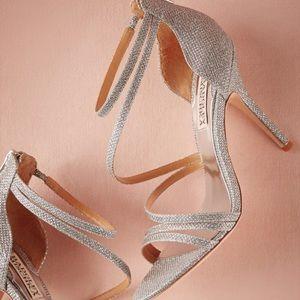 Badgley Mischka Silver Diamond Dust Heels